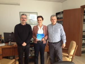 Michael I. Loizides and Xenia I. Loizidou, ISOTECH's Chairman and Director, receive the Green Office award from CYMEPA's Secretary General, Michael Ierides.